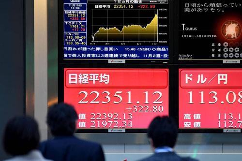 Cổ phiếu châu Á tăng nhờ lợi nhuận, tranh luận về thuế giúp cho chứng khoán Mỹ